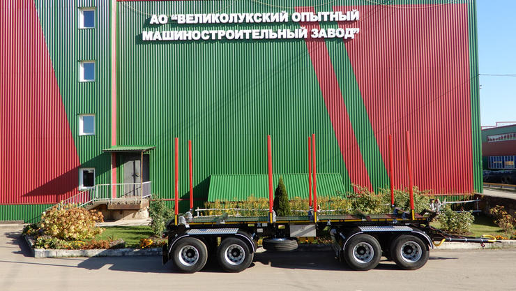 Новинка: 4-осный лесовозный прицеп STEELBEAR модель PR-48L